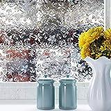 Adhesivo de Vidrio electrostático teñido de Cereza 3D película de Vidrio de PVC sin Pegamento película de decoración de Puertas y Ventanas para el hogar B 50x200cm