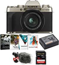 $849 » Fujifilm X-T200 Mirrorless Digital Camera with XC 15-45mm Lens (Champagne Gold), Corel Software Suite, Fujifilm Li-Ion Battery, Koah Condenser Microphone and SanDisk 32GB Memory Card Bundle (5 Items)