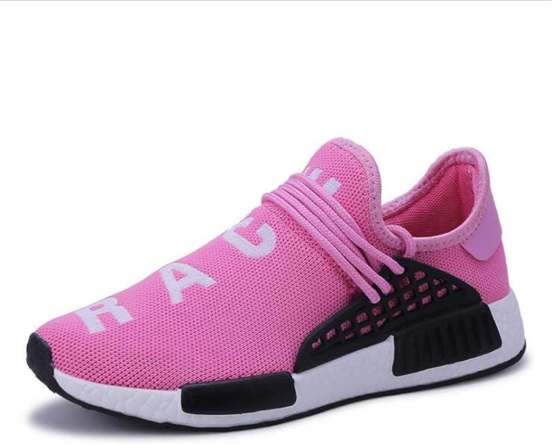 ZHRUI Paar Wanderschuhe Damen Sportschuhe Sportschuhe Sportschuhe Herren Turnschuhe Flyknit Schuhe (Farbe   Rosa, Größe   943 EU)  c2faa7