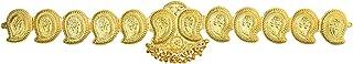 UG PRODUCTS Women's Copper Mango Belt Big Bharatanatyam Jewellery Gold