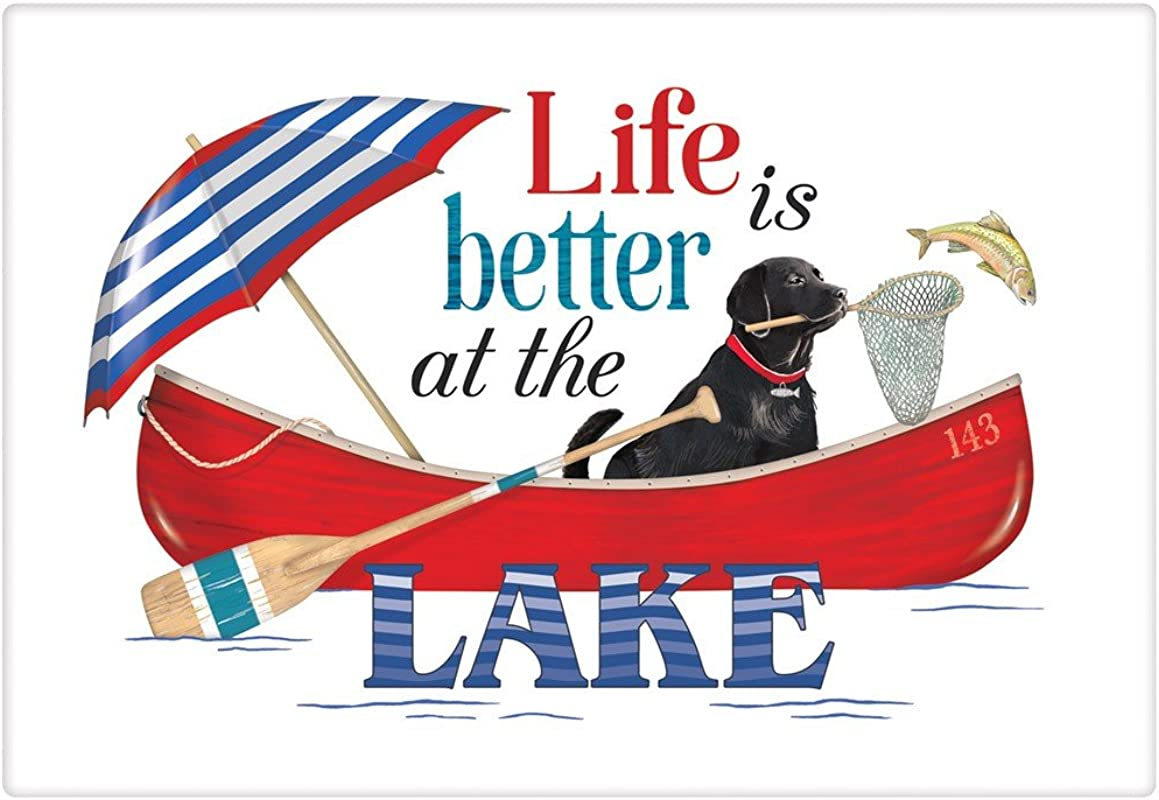 Mary Lake Thompson Life Is Better At The Lake Cotton Flour Sack Dish Towel