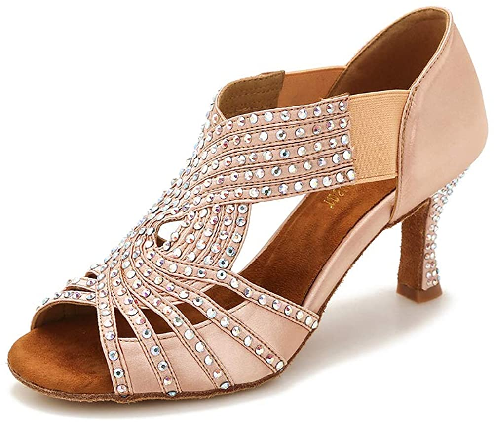 TTdancewear SALENEW Max 82% OFF very popular Women Rhinestone Dance Shoes Salsa Latin Ballroom Ba