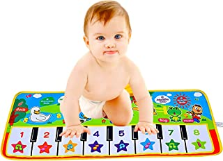 V Convey Fold-able Toddler Piano Mat, 5 Modes Animal Music ,