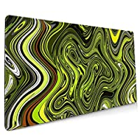 抽象的な緑のヘビ マウスパッド デスクマット 400x900mm ゲーミング用 オフィス用 防水 滑り止め 大型 おしゃれ