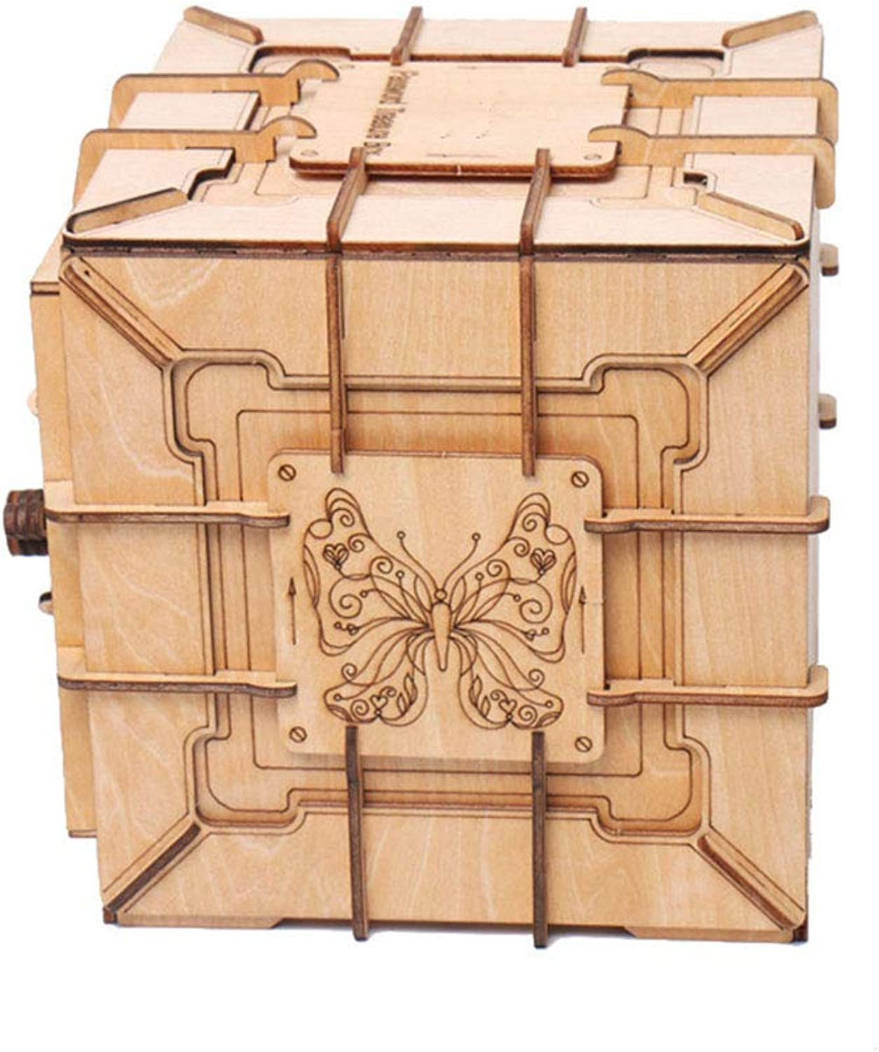 3D Wooden Puzzle Mechanical Transmission Model Password Box Assembly Toy DIY Parenting Creative Gift Teen Puzzle