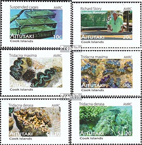Prophila Collection Aitutaki 822-827 (kompl.Ausg.) 2011 Meeresforschungszentrum (Briefmarken für Sammler) Wassertiere