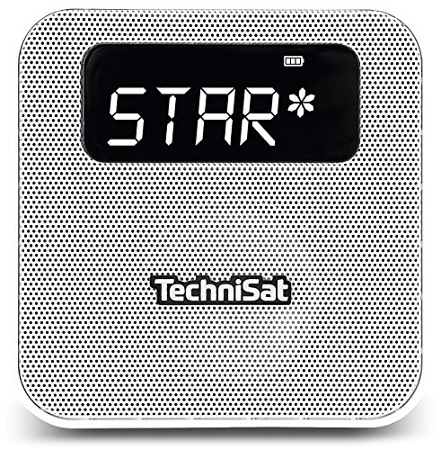 TechniSat Digitradio Flex DAB Steckdosenradio mit Akku (DAB+ Radio, UKW, Audio Eingang, USB Ladefunktion, Bluetooth, Favoritenspeiche) weiß