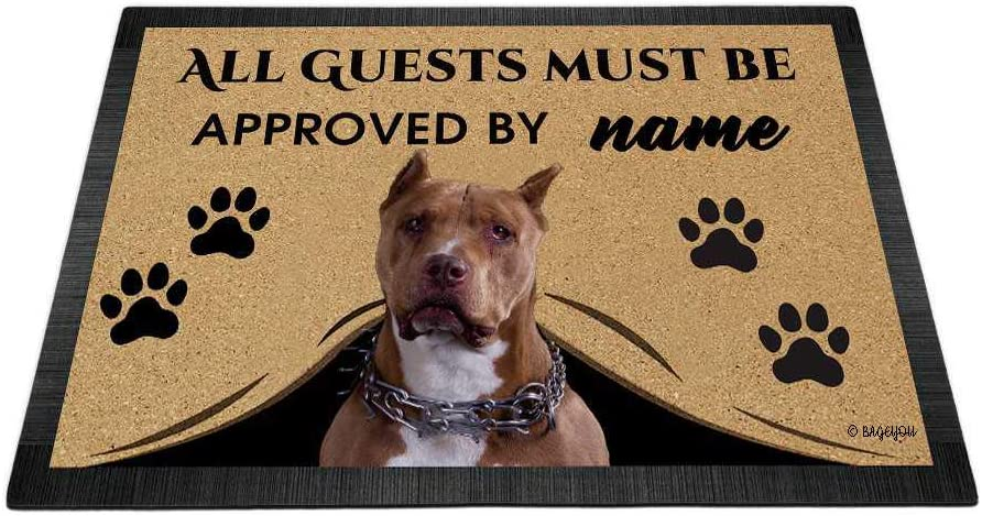 BAGEYOU Directly managed store All Guests Must be Approved with Love Award My Dog Doormat Pit