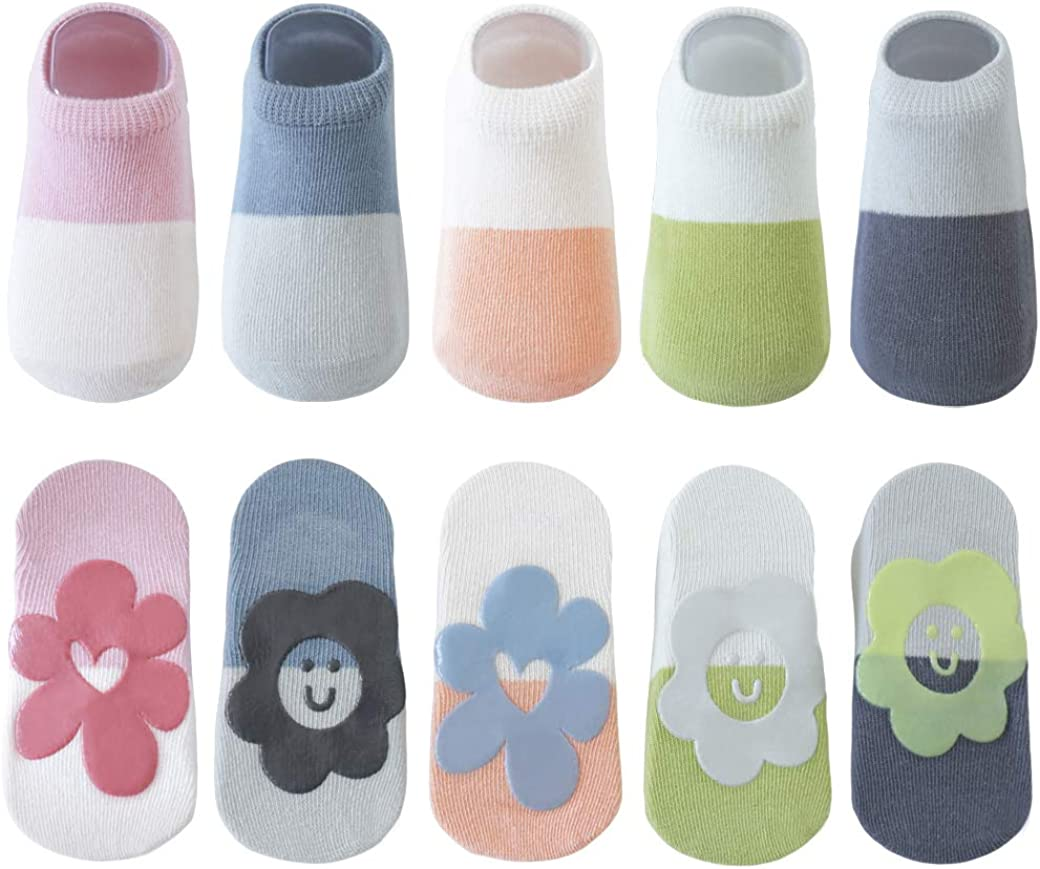Belsmi Anti Slip Baby Boy Girls Non Skid Newborn Toddler Cotton Summer Mesh Thin No Show Low Cut Ankle Socks