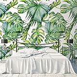 HUANGYAHUI Fotomurales Hojas Frescas De Árboles, Selva Verde, Selva Tropical Papel pintado Papel Pintado murales decoración de paredes moderna