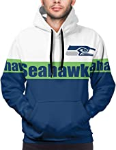 GDWY 2021 Men's Fashion Standard Pullover Classic Hoodie American Football Long Sleeve Sweatshirt Jacket with Pockets