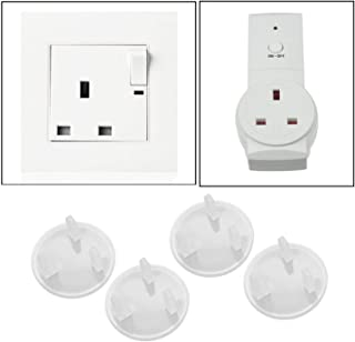 [6 Pcs] Clear Outlet child Protectors Child Proof Electrical Protector Safety Caps