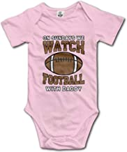 On Sundays We Watch Football with Daddy Baby Boys Girls Bodysuit Onesies Infant Football Sports Fans Funny Romper Creeper