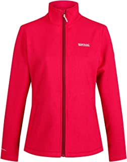 Regatta Women's Carby Water Repellent Wind Resistant Warm Backed Softshell Jacket Soft Shell, Dark Cerise, Size: 18