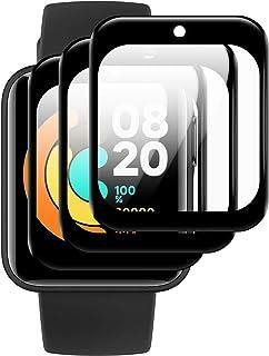 【2021最新デザイン】DIKESHGU Xiaomi Mi Watch Lite 用 フィルム シャオミMi Watch Lite日本語版対応 3D曲面カバー 全面保護 Xiaomi Mi Watch Lite 用保護フィルム PET複合材...