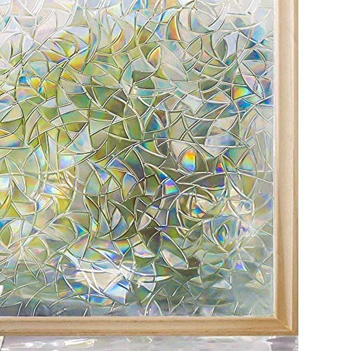 3D Decoratieve Window Privacy Film Stained Glass Window Sticker, Window zelfklevend Vinyl Statisch Anti Uv Glass Tint Film, 90x200cm