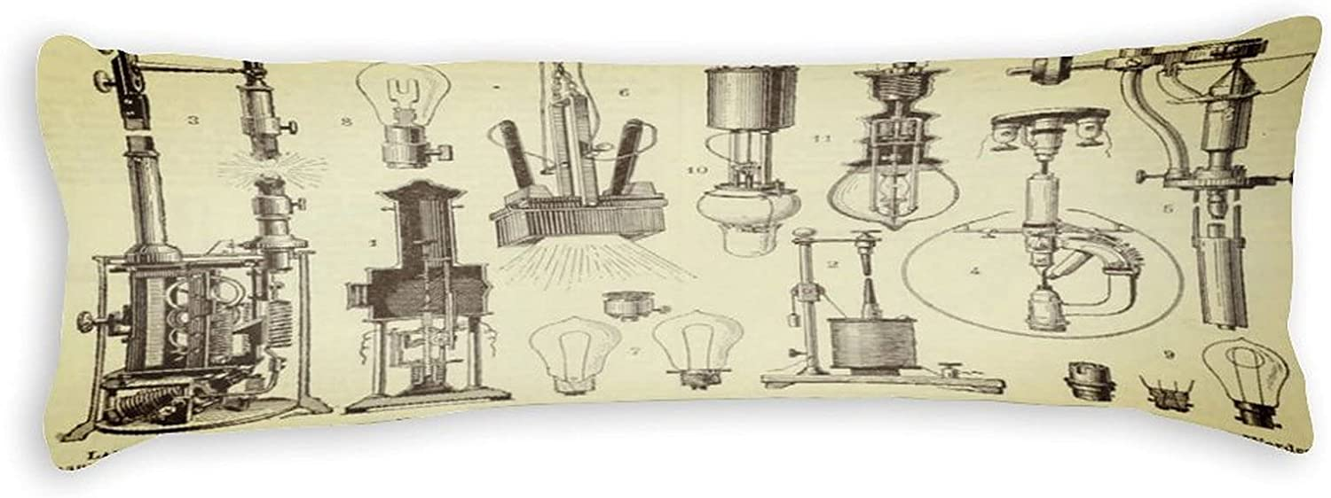 Edison Bulb Decoupage Body Covers Pillow Long Super beauty product restock quality New Orleans Mall top Cases