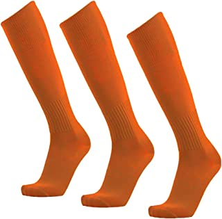 Unisex Athletic Knee High Breathable Compression Solid Tube Soccer Football Sport Socks 3/12 Pairs