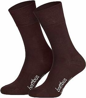 socksPur, Pack de 3 calcetines con bambú _ Hombre y Mujer extrabreiter Piqué de comodidad sin goma impresión.