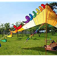 COM-SHOT 【 おしゃれ に アレンジ 】 ウィンド スピナー 折り畳み 風 車 テント タープ キャンプ アウトドア 飾り 付け 【 レインボー 】 MI-WINSPIN