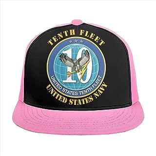 HONGPINGfamao US Navy Tenth Fleet Baseball Caps Plain Cap Snapback Dad Caps