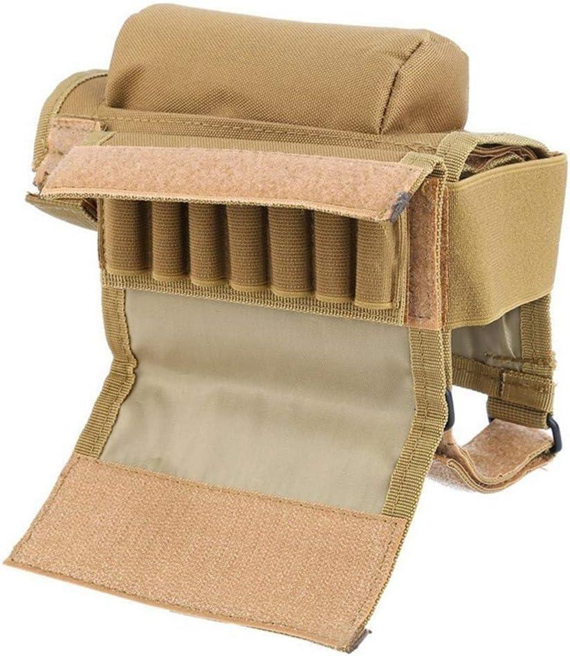 Almohadilla T/áctica para Descanso de Mejillas Bolsa de Apoyo Culata Elevador de Mejillas Militar con Soporte de Carcasa Soporte de Nailon para Descanso de Mejillas
