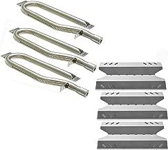 Hisencn Grill Repair Kit Replacement for Members Mark BQ05046-6, BBQ Pro BQ05041-28, BQ51009, Sam's Club, Outdoor Gourmet Gas Grill Models, Stainless Steel Pipe Burner Tube, Heat Plate Tent Shield