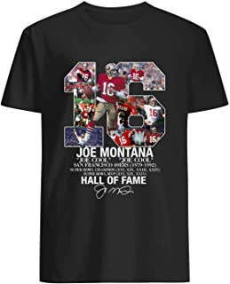 80s Stuff Montana Hall of Fame Signature Shirt Black