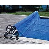 Enrouleur de bâche à bulles ou couverture solaire de 3,9 à 5,20 mètres de largeur pour piscines.