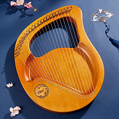 Lyre Harp, 24 Cuerdas Instrumento Musical portátil, con Bolsa de Transporte, Barra de afinación, púas para Principiantes,21 Strings
