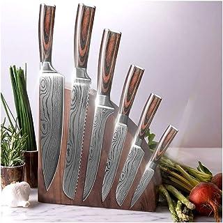 Couteau Couteau de cuisine Couteaux de cuisine 7CR17 440C Damas haute teneur en carbone en acier inoxydable Dessin Gyuto C...