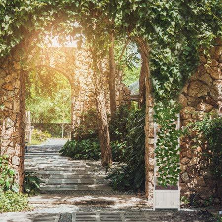 Relaxdays Pérgola de jardín, Enrejado de Madera, Decoración de ...