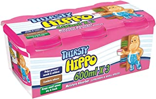 Thirsty Hippo Moisture Absorber, 600ml (Pack of 3)