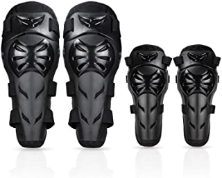 GuTe Knee Pads Elbow Pads 4Pcs - 2 in 1 Protective Elbow Guard/Knee and Shin Guards, Motorcycle Gear Set with Adjustable Knee Cap Pads Protector for Motocross ATV Skating
