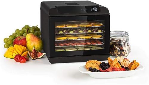 KLARSTEIN Arizona Jerky - Déshydrateur, Fruits, séchoir à viande, 500W, 35 à 70°C, 6 grilles de stockage lavables en ...