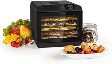 KLARSTEIN Arizona Jerky - Déshydrateur, Fruits, séchoir à viande, 500W, 35 à 70°C, 6 grilles de stockage lavables en machi...