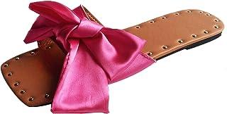 Comfortabele damespantoffels met strik, voor binnen en buiten, antislip