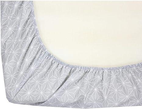 Farbe TupTam Baby Spannbettlaken mit Gummizug Gemustert Sterne Dunkelblau Gr/ö/ße 70 x 140 cm