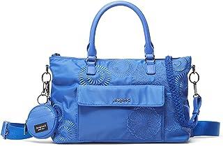 Desigual Womens BOLS_MANDARALA PA Hand Bag, Blue, One Size
