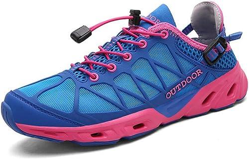 DANDANJIE Femmes Randonnée Chaussures Sports de Plein air Randonnée Chaussures de Marche Imperméable à l'eau Antidérapant Faible Top Chaussures de Cross-Country