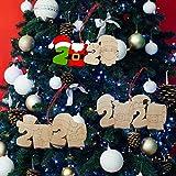 2020クリスマスの装飾品DIYクリスマスペンダントクリスマスハンギングボードセットサバイバーファミリーツリーハンギングメモリブレッシングペンダントクリエイティブギフトファミリークリスマスホリデーデコレーション