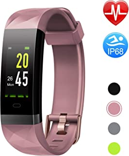 Letsfit Fitness Tracker HR, Color Screen Heart Rate Monitor Watch, Smart Activity Tracker Watch, IP68 Standard, Step Calorie Counter, Sleep Monitor, Pedometer Watch for Women Men