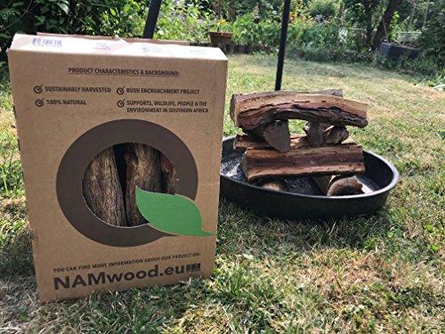 NAMwood Sekelbos Premium Grillholz im 12 Kg Karton - Braai, Grill, BBQ und Smoker Holz