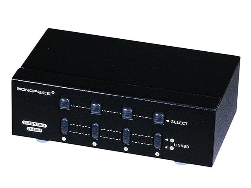 Monoprice 104084 2 x 4 SVGA VGA Matrix Switcher Splitter Amplifier Multiplier