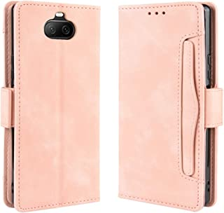 For Sony Xperia 8 Wallet Style Skin Feel Calf Pattern Leather Case with Separate Card Slot New (Black) MengT (Color : Pink)