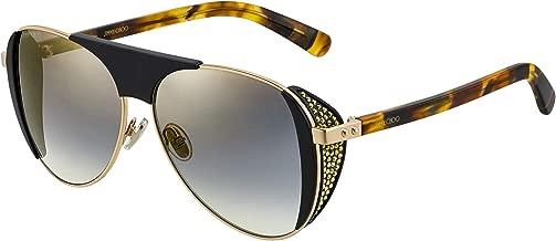 JIMMY CHOO Rave/S Black Gold/Grey Silver 56/13/135 Women Sunglasses