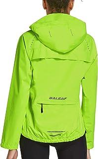 Women's Running Jacket Cycling Windbreaker Cold Weather Reflective Raincoat Waterproof Windproof Biking Hooded