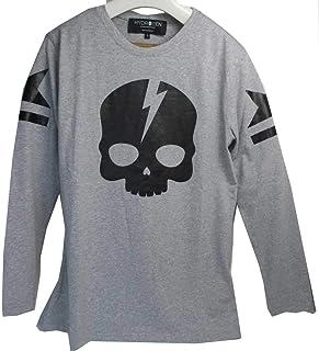 HYDROGEN ハイドロゲン 230053 クルーネック 長袖Tシャツ 001 [並行輸入品]