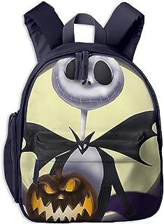 Pesadilla Antes de Navidad Mochilas Escolares con Estampado de Halloween para niñas Niños Mochilas de Escuela Primaria Mochila al Aire Libre