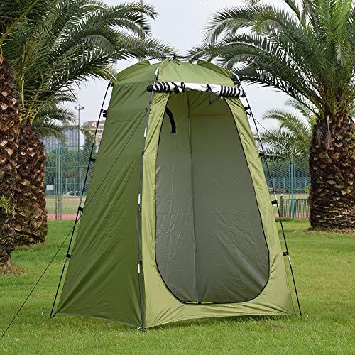 weichuang Außenzelt Außendusche Bade Tent Camping wasserdichte Anti-UV Strand Ändern Anproberaum Strand Privacy WC Shelter mit Standard Nail Zelt (Color : Army Green)